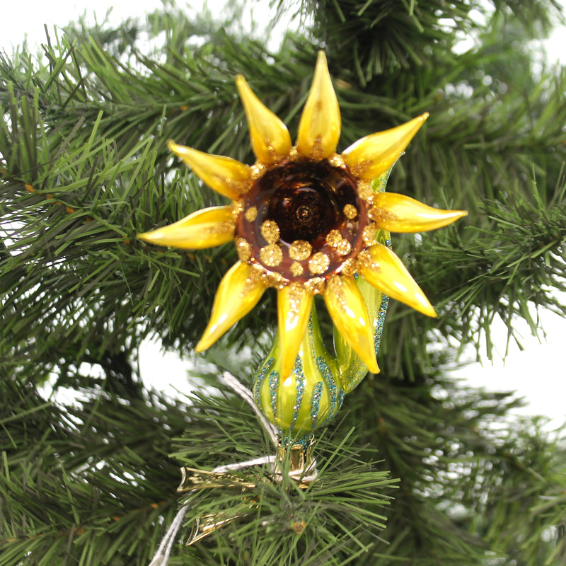 Morawski SUNFLOWER Glass Clip On Flower 11633.
