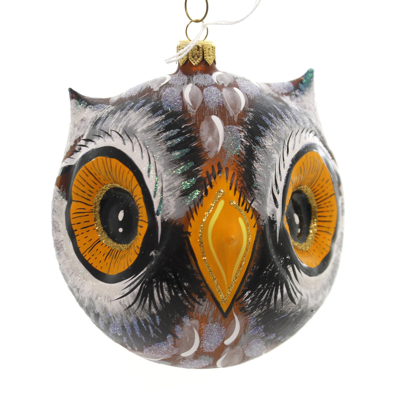 Morawski OWL HEAD Glass Wise Nocturnal 10574