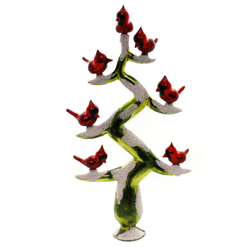 Morawski CARDINALS TREETOPPER Glass Tree Branches Poland 17315