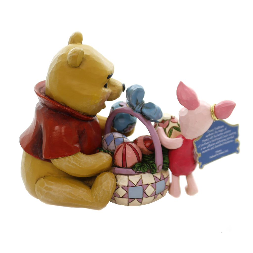 Jim Shore SPRING SURPRISE. Polyresin Pooh Piglet Easter 6001283