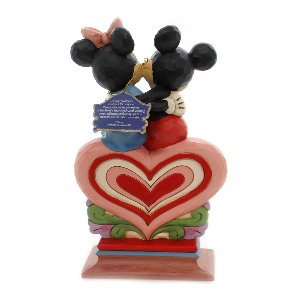 Jim Shore HEART TO HEART Polyresin Mickey Minnie Mouse 6001282