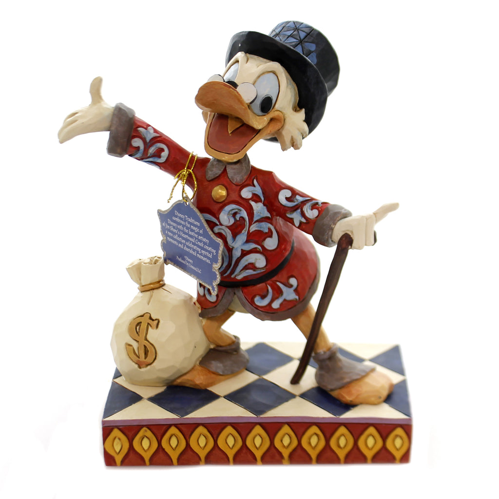 Jim Shore TREASURE SEEKING TYCOON Polyresin Scrooge Duck Tales 6001285