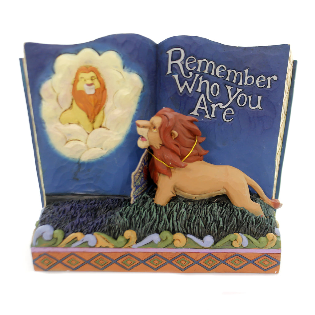 Jim Shore REMEMBER WHO YOU ARE Polyresin Lion King Storybook 6001269