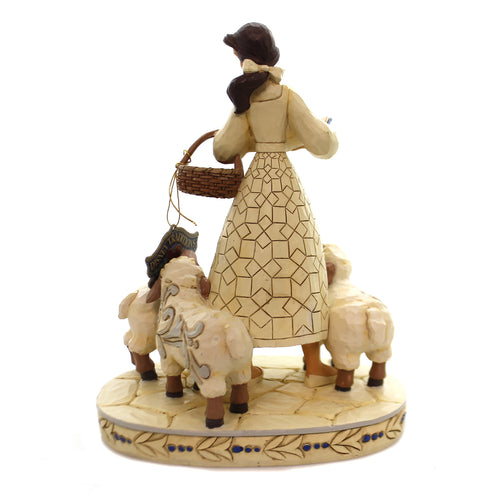 Jim Shore BOOKISH BEAUTY Polyresin Belle With Sheep 6002338