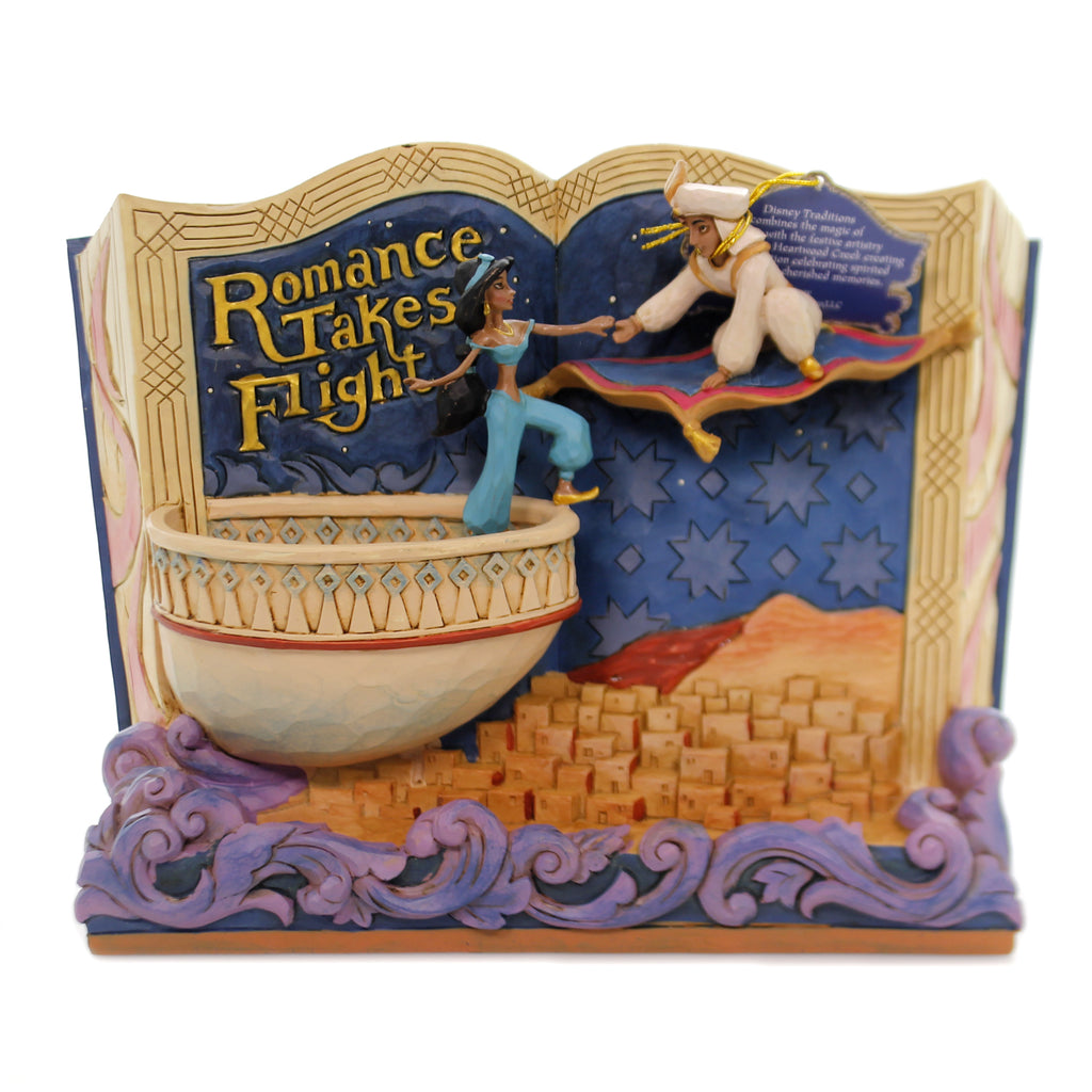 Jim Shore ROMANCE TAKES FLIGHT Polyresin Storybook Aladdin 6001270
