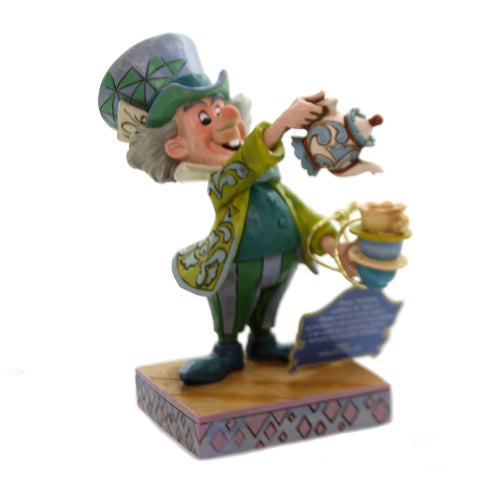 Jim Shore A SPOT OF TEA Polyresin Mad Hatter 6001273