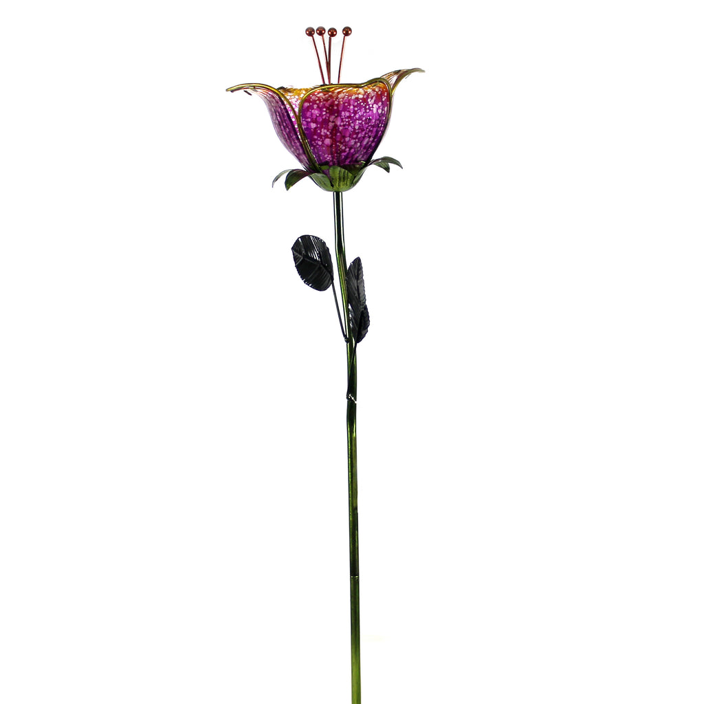 Home & Garden TWILIGHT LILY STAKE PURPLE Metal Metal Glass Summer 11692