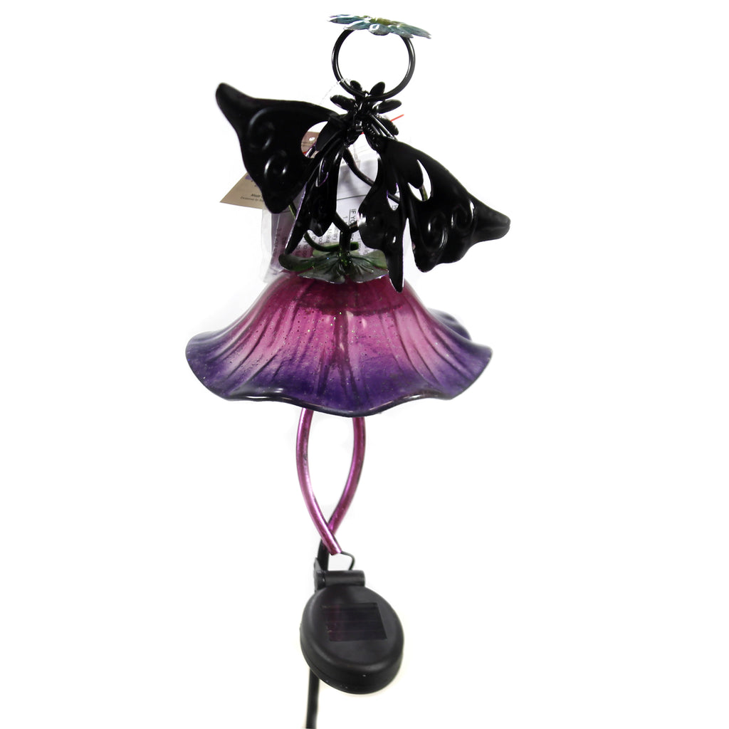 Home & Garden SOLAR FAIRY STAKE PURPLE Metal Led String Lights 11463