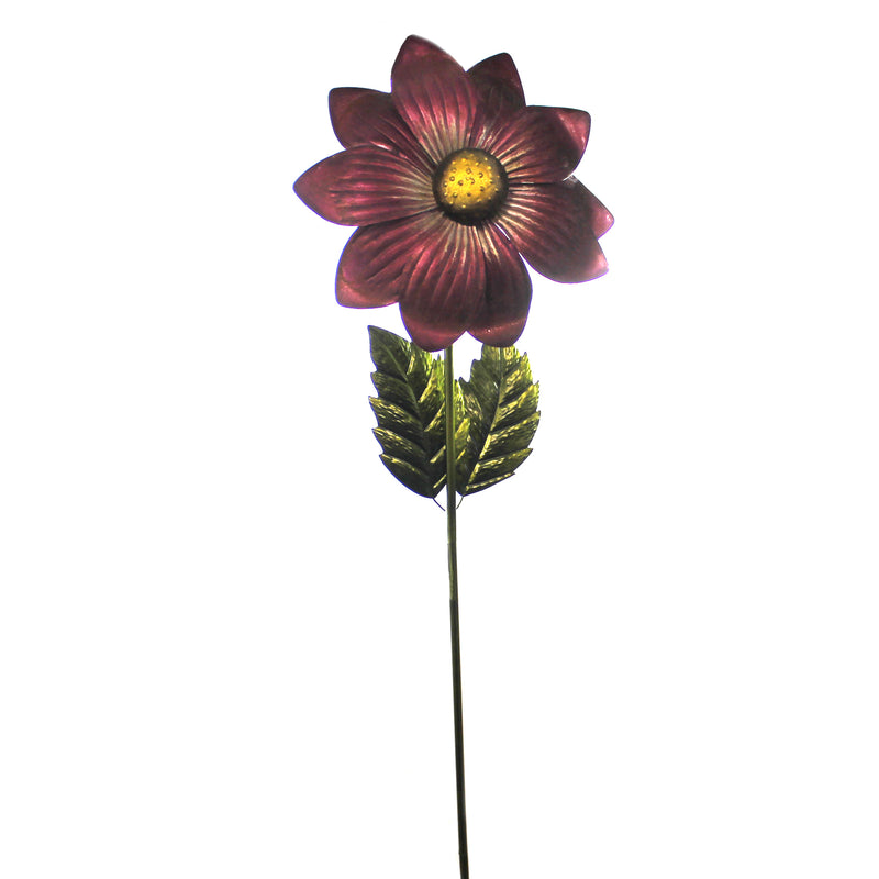 Home & Garden GIANT  FLOWER STAKE MAGENTA Metal Hand Painted Textured 11221.