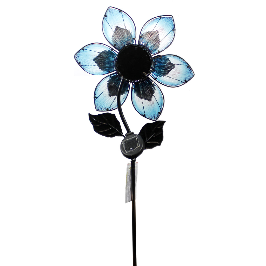 Home & Garden SOLAR GIANT FLOWER STAKE BLUE Metal Led String Lights Cally 11566