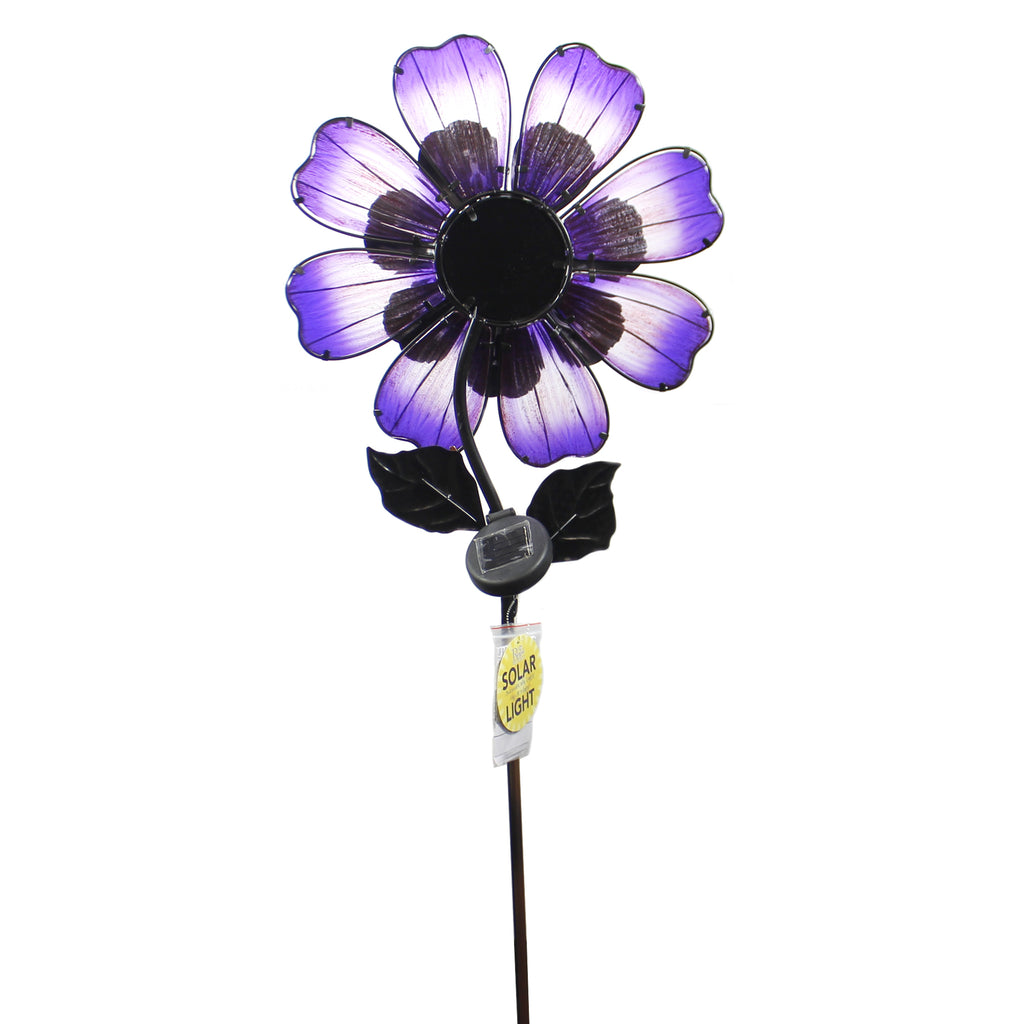 Home & Garden SOLAR GIANT FLOWER STAKE PURPLE Metal Led String Lights 11568