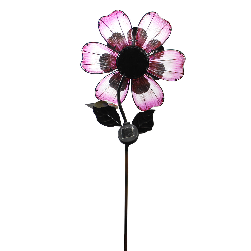 Home & Garden SOLAR GIANT FLOWER STAKE PINK Metal Led String Lights 11567