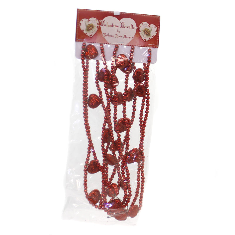 Valentine's Day LITTLE SWEETHEART GARLAND Plastic Vintage Hearts Love Lg4302