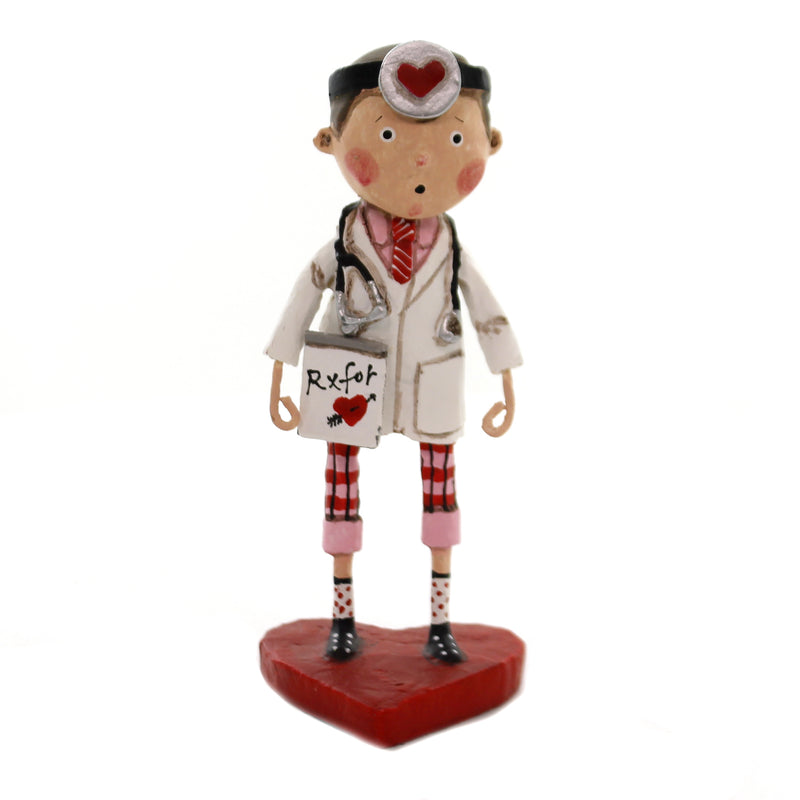 Lori Mitchell LOVE DOCTOR Polyresin Valentines Day Heart Rx 11126