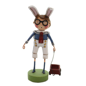 Lori Mitchell WARDY'S WAGON Polyresin Easter Ears Glasses Sailor Suit 11140