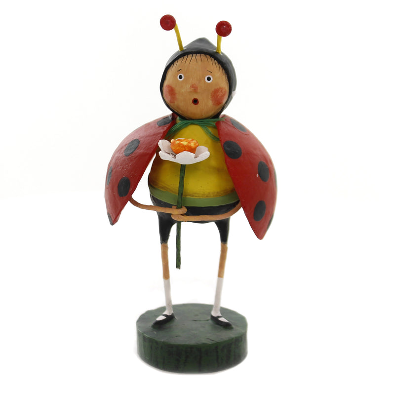 Lori Mitchell LITTLE LADYBUG Polyresin Spring Flower Insect 11130