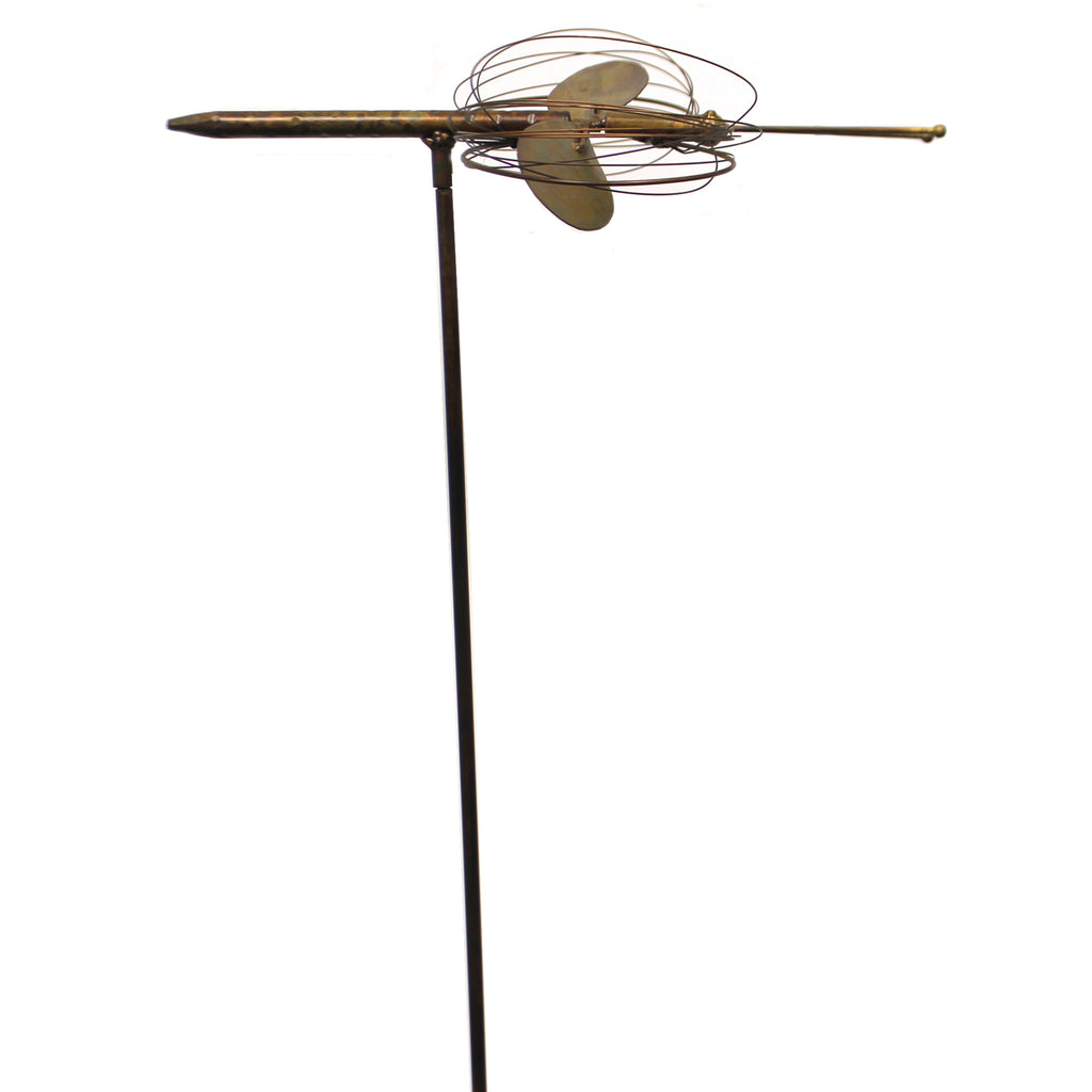 Home & Garden FLAMED DRAGONFLY GARDEN STAKE Metal Spinning Wings Ag17159