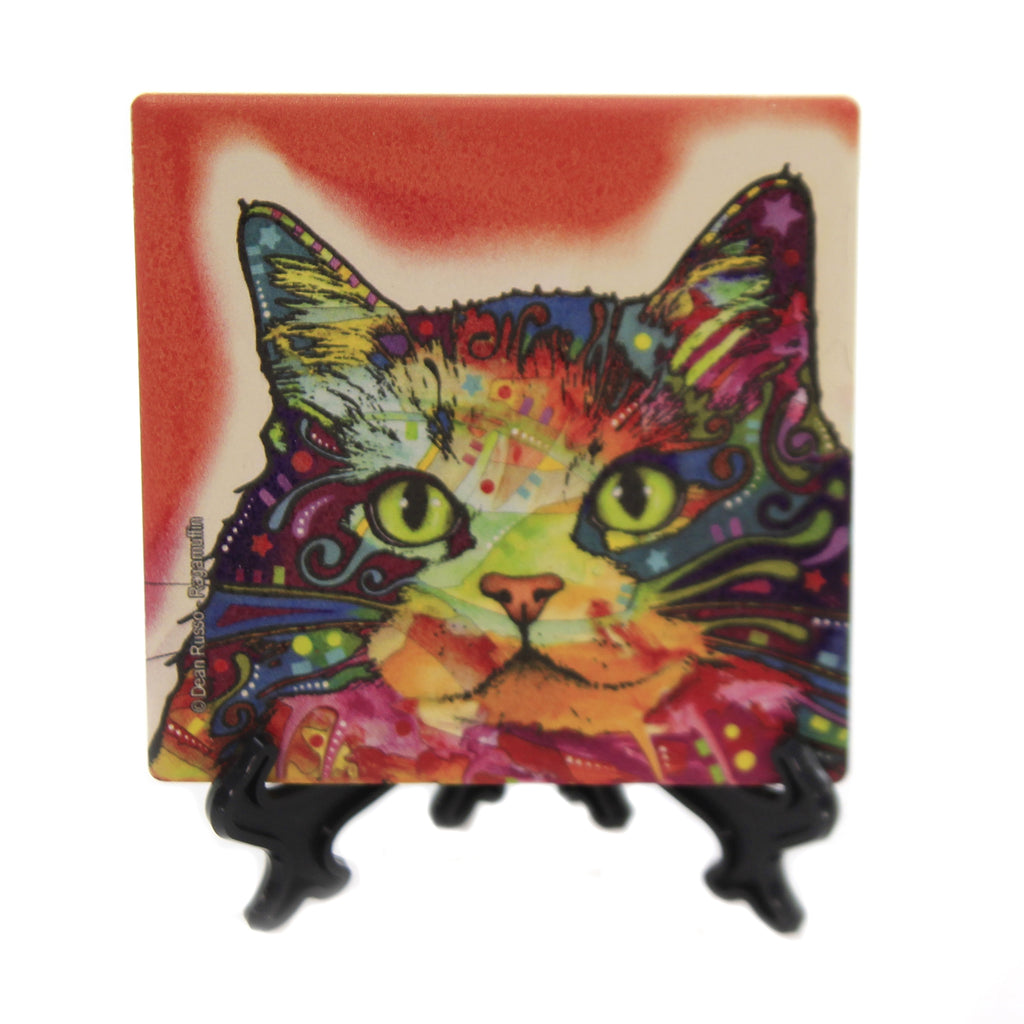 Animal RAGAMUFFIN CAT Stone Stone Coaster Easel 78430
