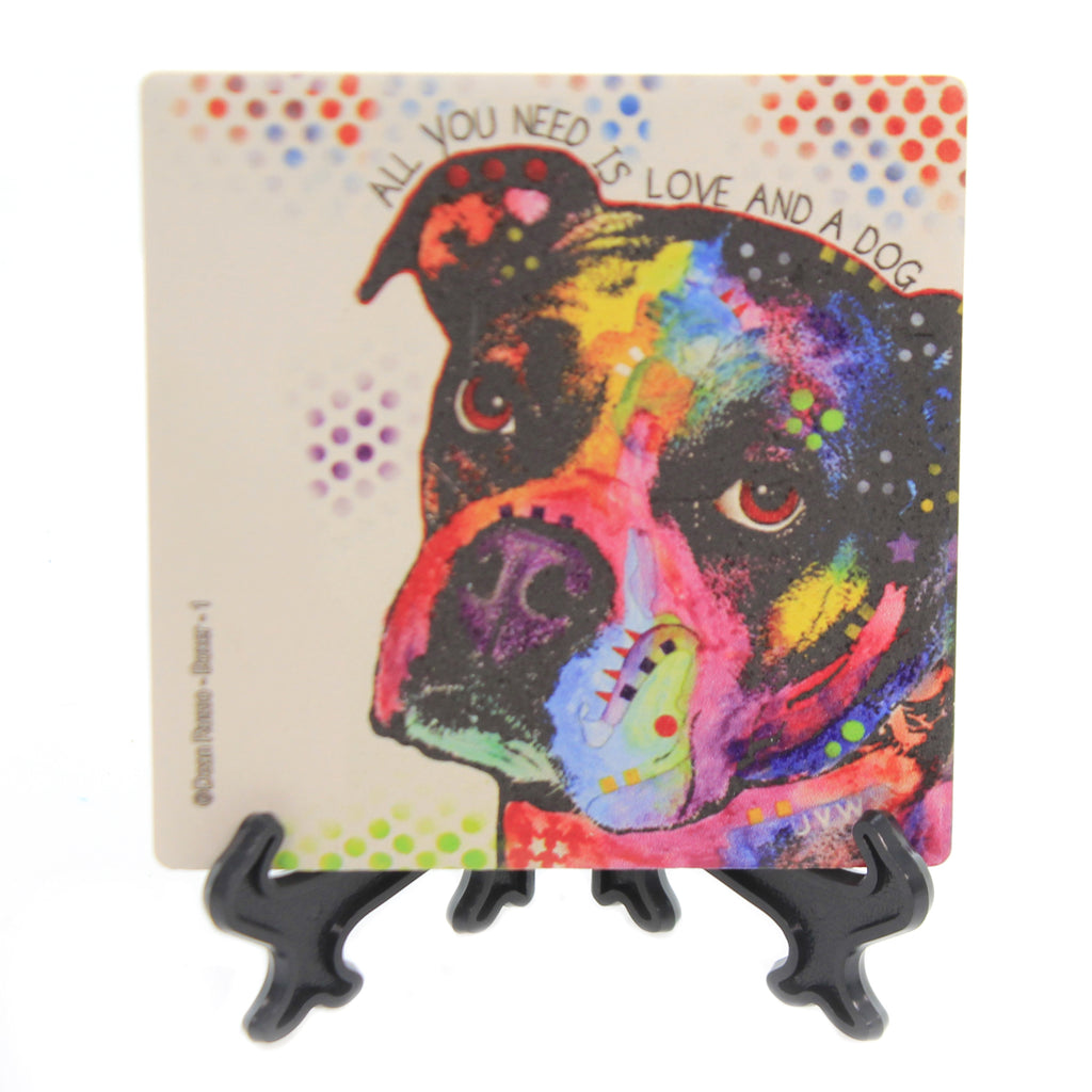 Animal BOXER 1 Stone Stone Coaster With Easel 78417