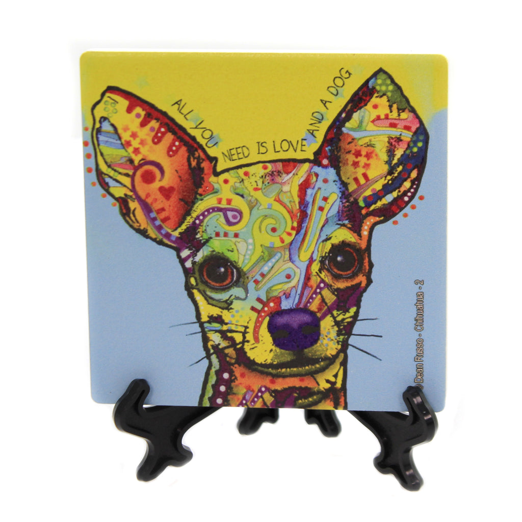 Animal CHIHUAHUA 2 Stone Stone Coaster With Easel 78442