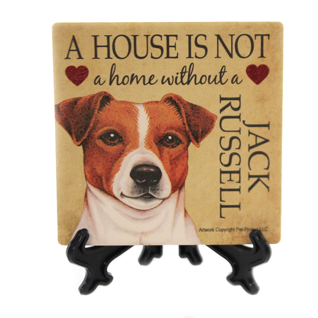 Animal JACK RUSSELL - HOUSE Stone Stone Coaster Easel 24643