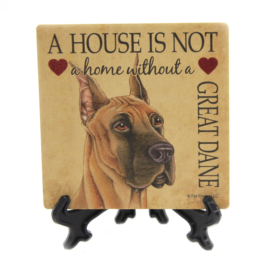 Animal GREAT DANE - HOUSE Stone Stone Coaster Easel 24640