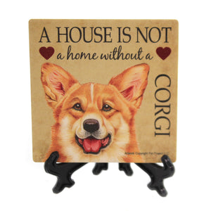 Animal CORGI - HOME Stone Cork Back Coaster Easel 24630