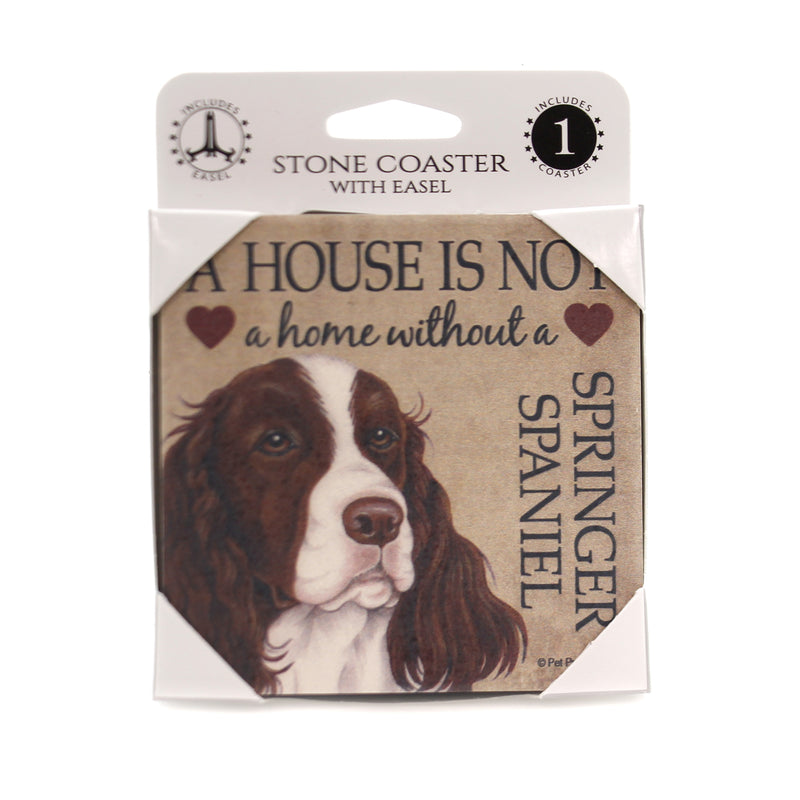 Animal SPRINGER SPANIEL - HOUSE Stone Stone Coaster Easel 24669
