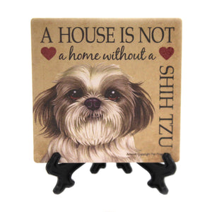 Animal SHIH TZU - HOME Stone Cork Back Coaster Easel 24667
