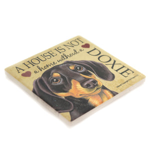 Animal DOXIE - HOUSE Stone Stone Coaster Easel 24631