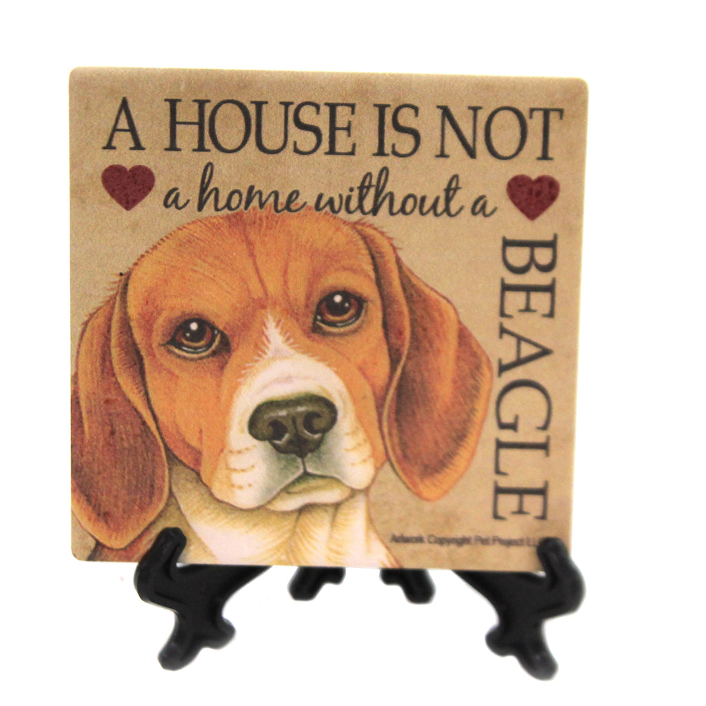 Animal BEAGLE - HOUSE Stone Stone Coaster Easel 24604