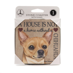 Animal CHIHUAHUA - HOUSE Stone Stone Coaster Easel 24624