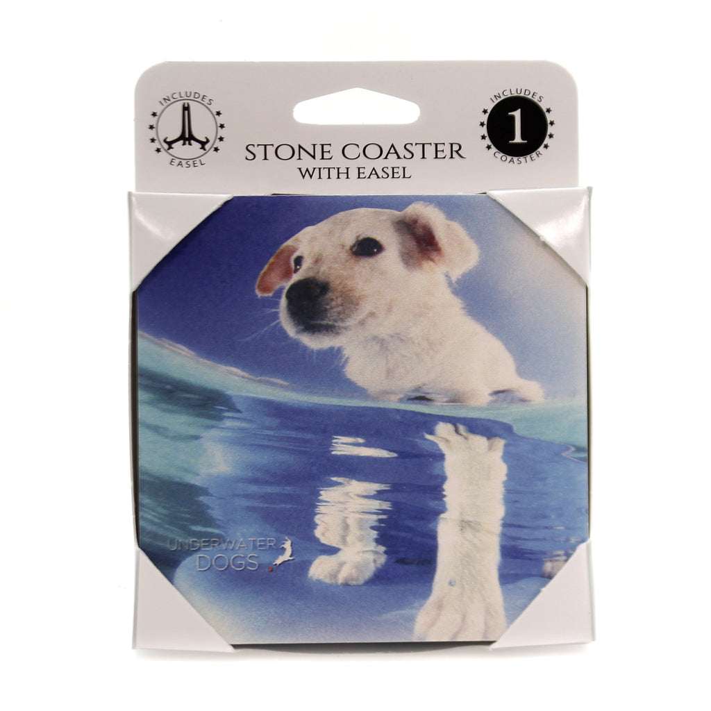 Animal CATTLE DOG MIX Stone Cork Back Coaster Easel 58614