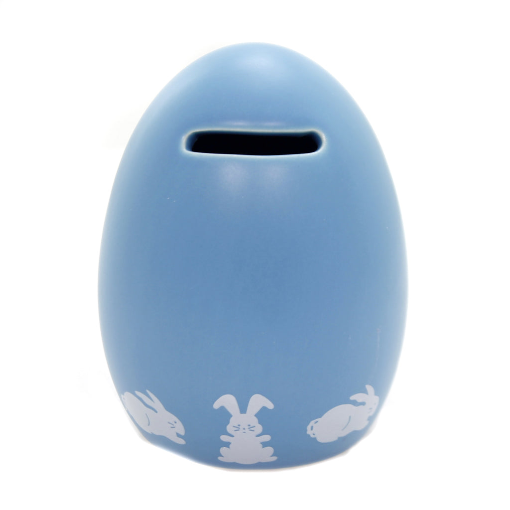 Bank EASTER EGG BANK BLUE Ceramic Bunny Easter 3151Bl