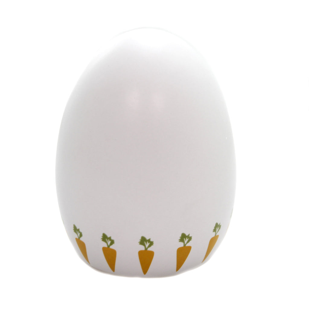 Bank SPRING EGG WHITE BANK Ceramic Easter Carrots 3151Wt