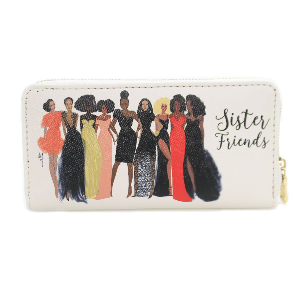 Handbags SISTER FRIENDS WALLET Vinyl Money Holder Wl04