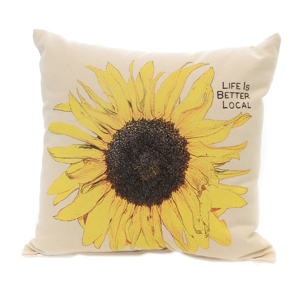 Home Decor LIFE IS BETTER LOCAL PILLOW Sunflower Indoor Use Summer Life Is Better