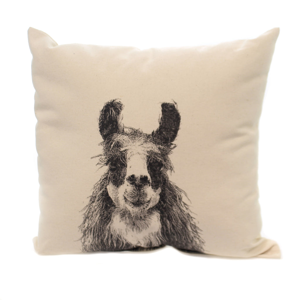 Home Decor LLAMA PILLOW Fabric Indoor Usage Fa La La Animal Mp Llama 1