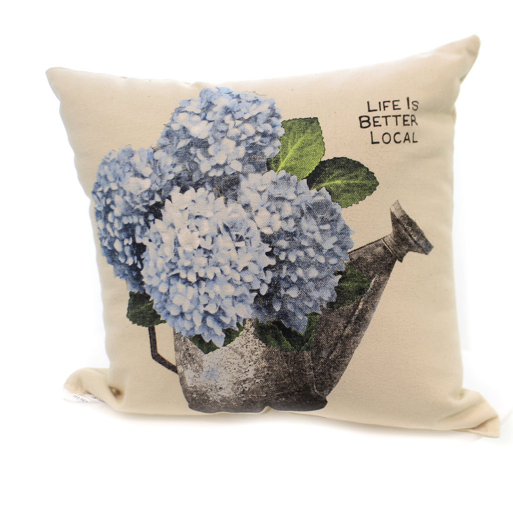 Home Decor BLUE HYDRANGEA PILLOW Indoor Use Spring Summer Water Mp Hydrangea