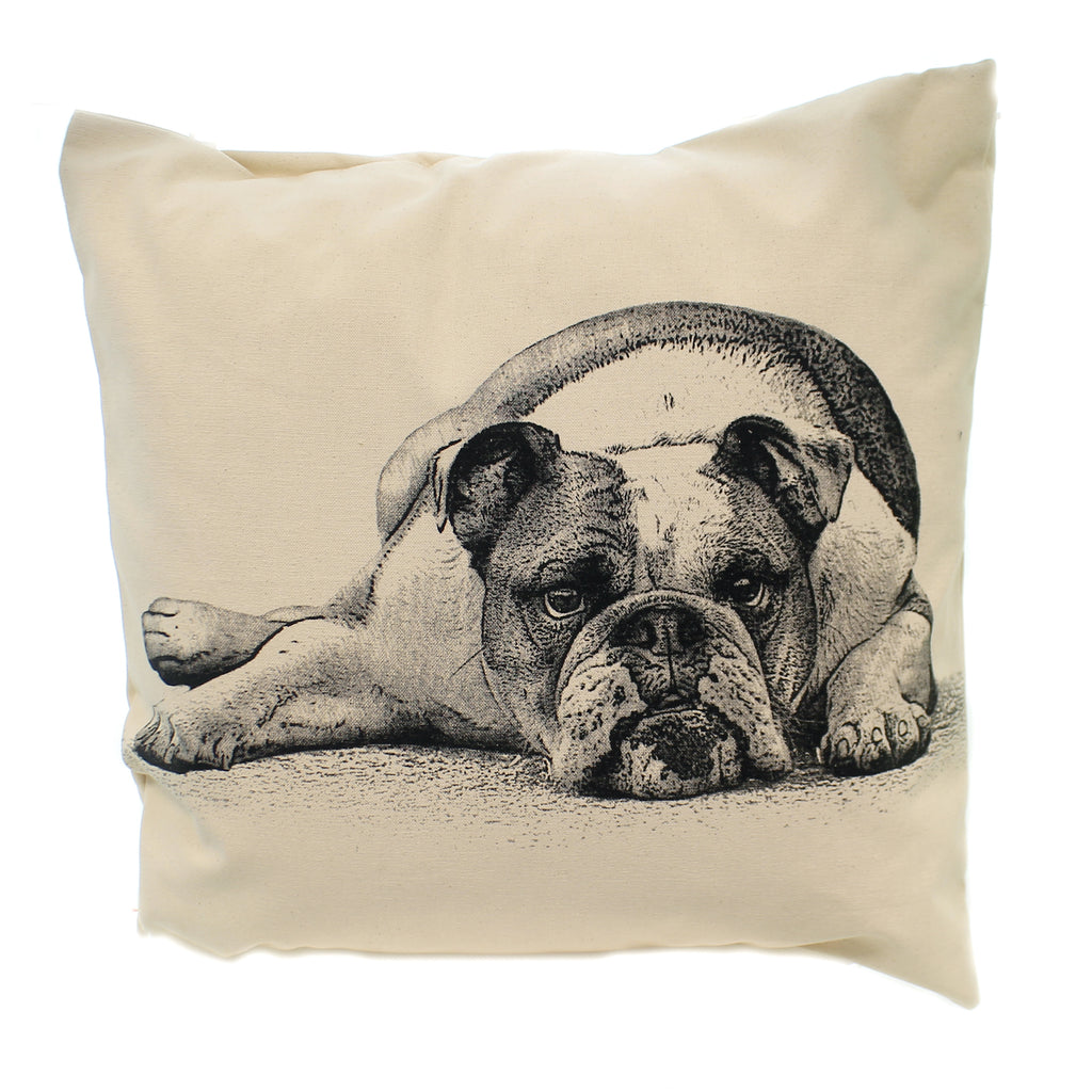 Home Decor BULL DOG PILLOW Fabric Indoor Use Pet Dog Best Friend Lp Bulldog 2