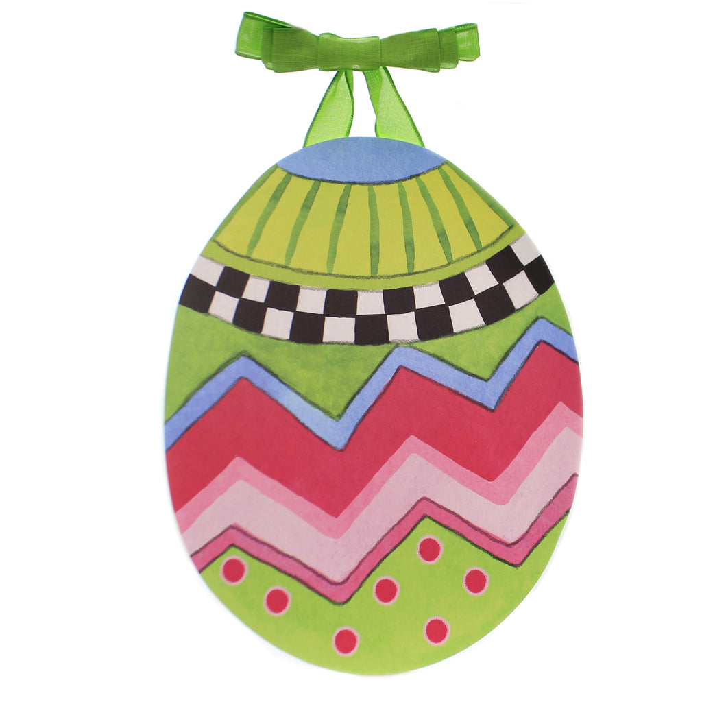 Home & Garden EGG TOSS DOOR DECOR Plastic Easter Stripes Polka Dots Dd1647