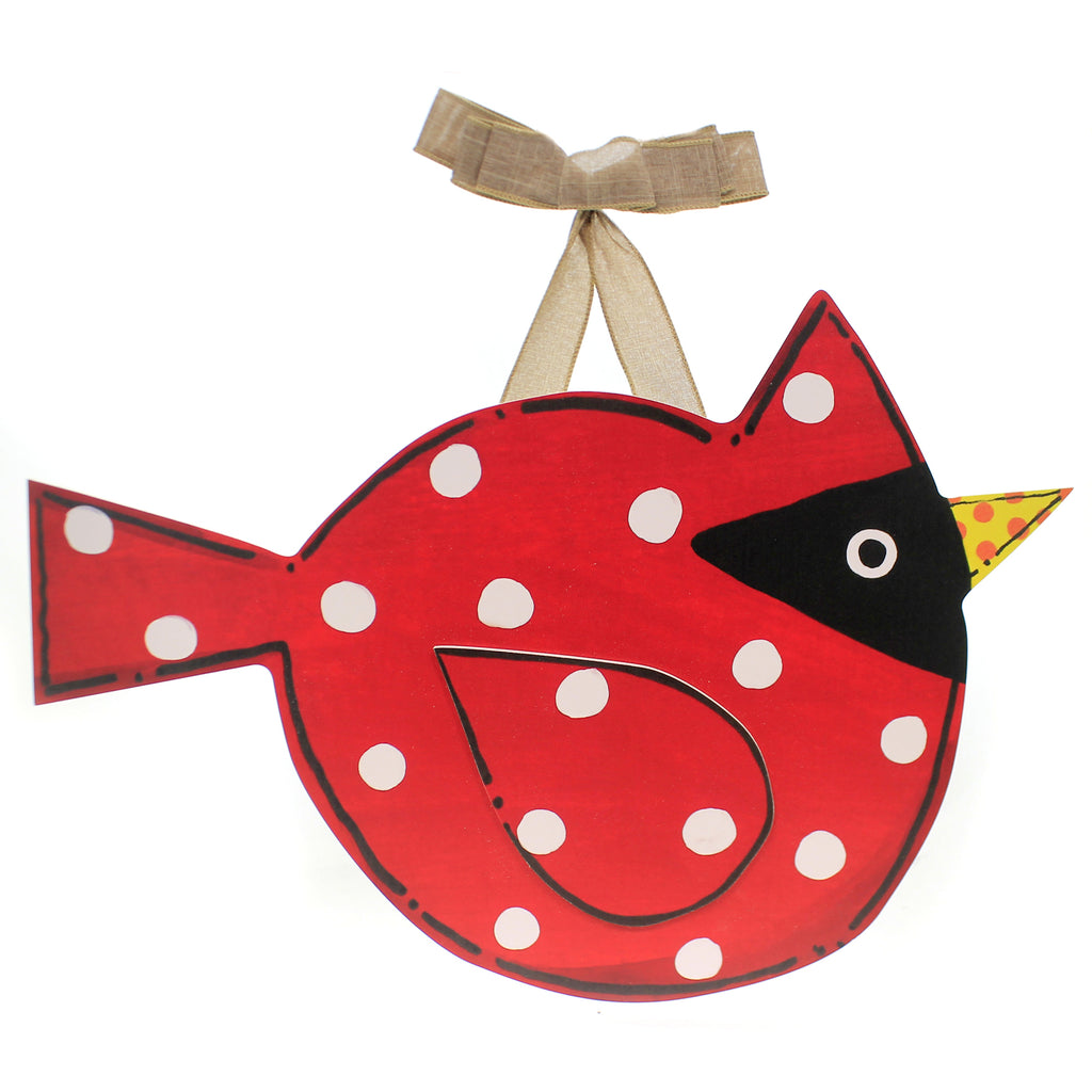 Home & Garden CARDINAL DOOR DECOR Plastic Bird Red Spring Summer Dd0050