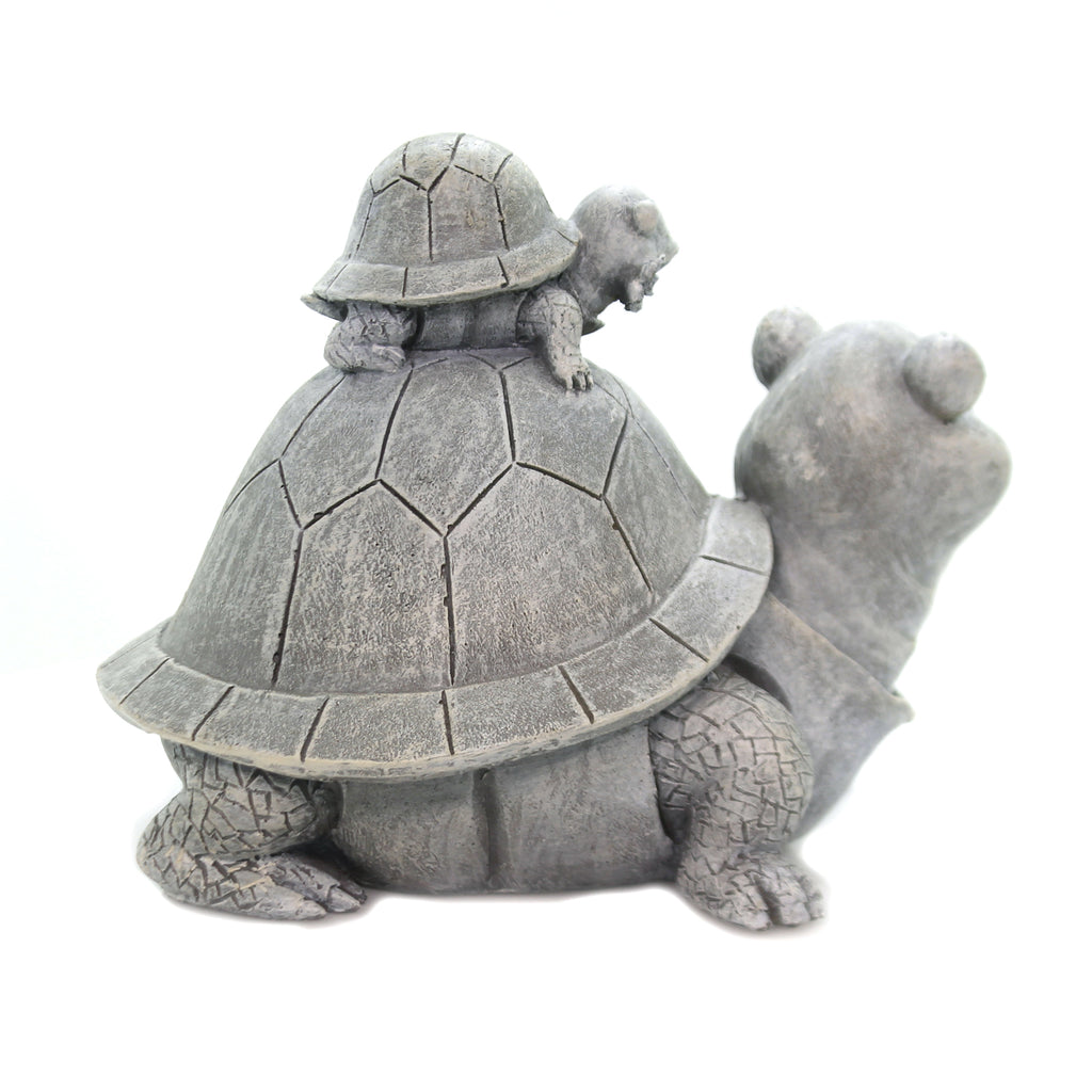 Home & Garden TURTLE & BABY STATUE Polyresin Summer Yard Decor 12332