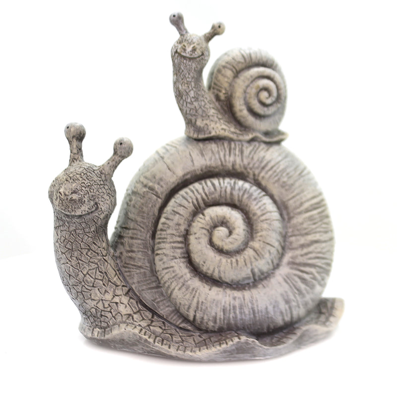 Home & Garden SNAIL & BABY STATUE Polyresin Summer Garden Decor 12333