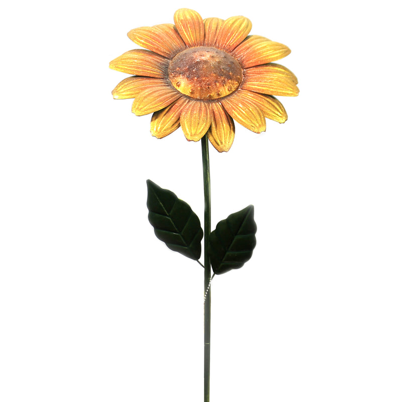 Home & Garden SUNFLOWER STAKE Metal Flower Handcrafted 11453.