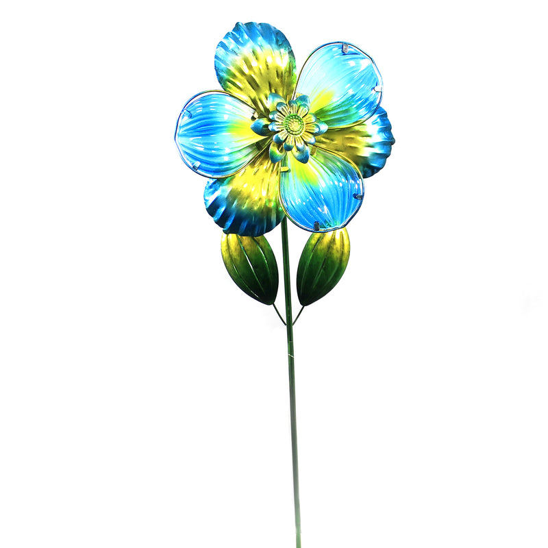 Home & Garden ISABEL FLOWER STAKE BLUE Metal Handcrafted 11862