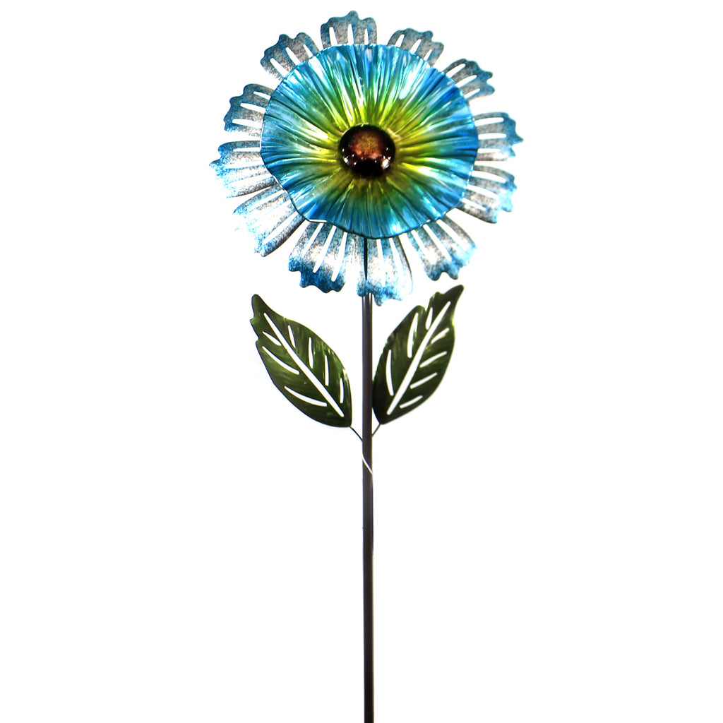Home & Garden COSMO FLOWER STAKE BLUE Metal Handcrafted 11694.