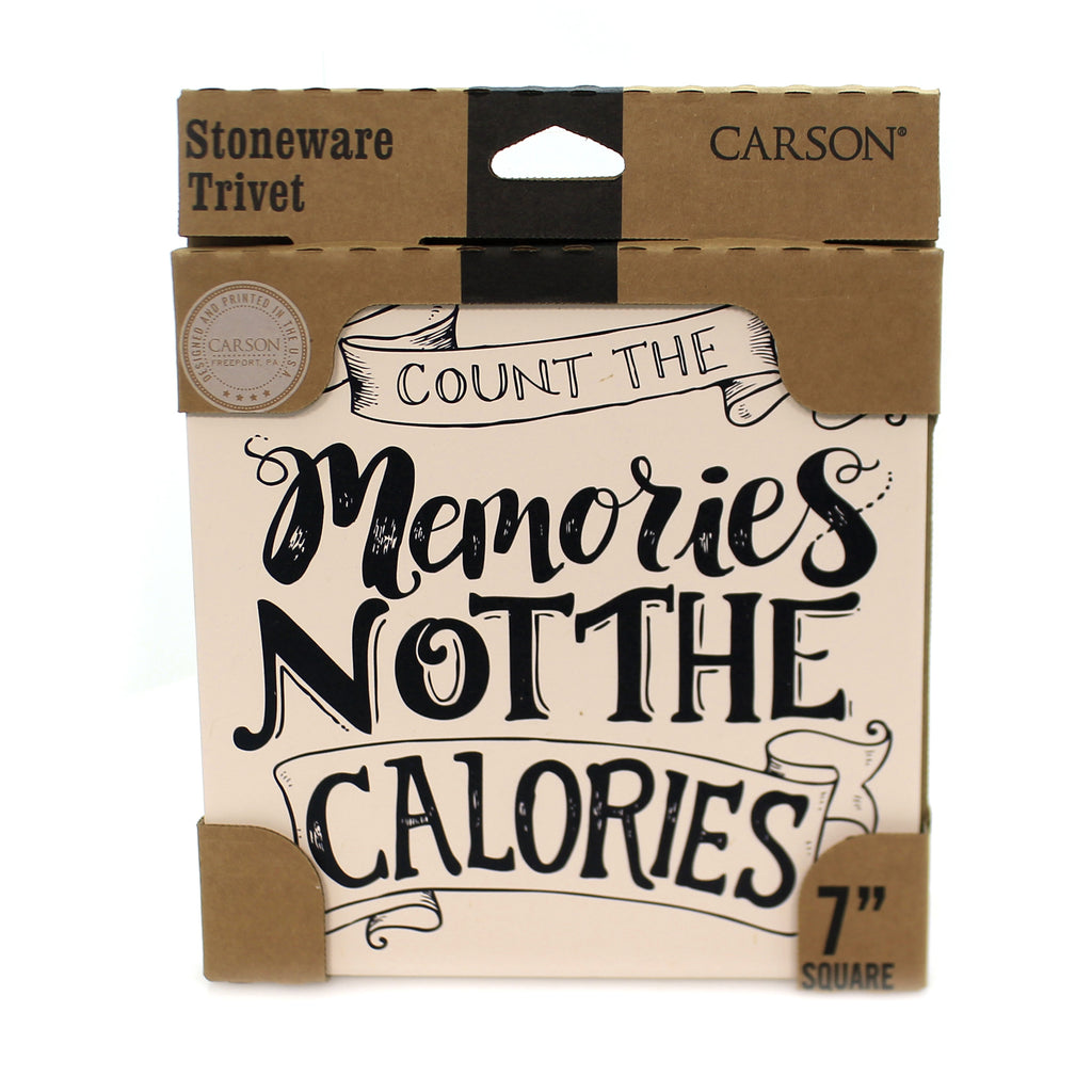 Tabletop CALORIES TRIVET Stone Cork Back Absorbent 22707