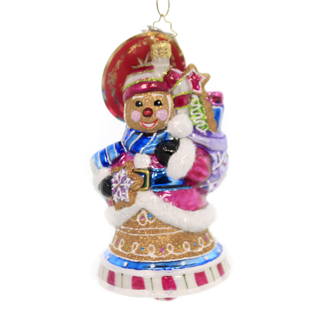 Christopher Radko GINGER SWEET BELLS Glass Ornament Cookie Pastry 1020009