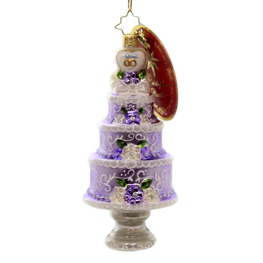 Christopher Radko THREE TIER CELEBRATION Ornament Wedding Marriage Bride 1019909